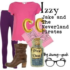 """Costume for me to go with Jonah's """"Jake""""? """"Izzy-Jake and The Neverland Pirates"""" by azzurra48 on Polyvore"""
