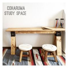 Saw Horse Diy, Small Woodworking Projects, Study Space, Diy Camping, Wood Crafts, Diy Furniture, Entryway Tables, Desk, House Design