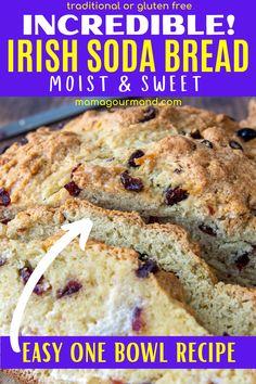 Gluten Free Quick Bread, Quick Bread Recipes, Easy Bread, Baking Recipes, Dessert Recipes, Free Recipes, Easy Recipes, St Patrick's Day, Irish Desserts
