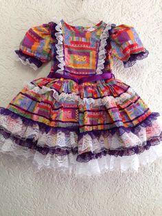 Quintal Kids/vestido caipira/festa junina