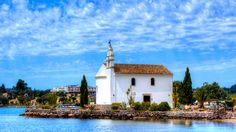 Ypapanti Church Gouvia Corfu (The Church In The Sea). Published by Living Postcards Corfu Island, Greek Beauty, Travel Magazines, Place Of Worship, National Geographic Photos, Greek Islands, Beautiful Beaches, Amazing Photography, Around The Worlds