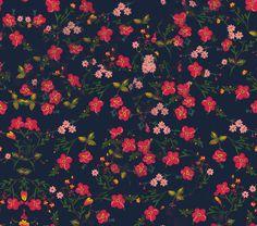 Pink Floral Canvas Print by Kat Blaque http://blaquekat.tumblr.com http://lookbookillust.tumblr.com/ http://katblaque.tumblr.com/ https://www.facebook.com/kat.blaque.5 https://twitter.com/kat_blaque https://www.youtube.com/user/TransDIYer