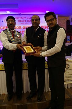 "Mr.Tushar Kumar got honored with the ""#President Appreciation #Award For Outstanding Contribution"" in #rotaryclub"