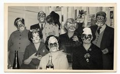 https://flic.kr/p/7Za9vb | masks | See my flickr vintage snapshots set, for many more unusual, weird and wonderful snapshots.