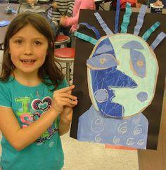 Art with Mrs. Seitz: 1st grade art, Picasso Blue Portraits
