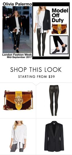 """Olivia Palermo at London Fashion Week - Model Off Duty"" by victoria-styling ❤ liked on Polyvore featuring Prada, Caslon, STELLA McCARTNEY and Sol Sana"