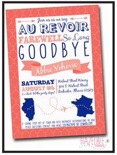 going away party invitation wording ideas  party invitations, invitation samples