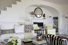 vintage + modern mix coastal living room via Kate Jackson Design