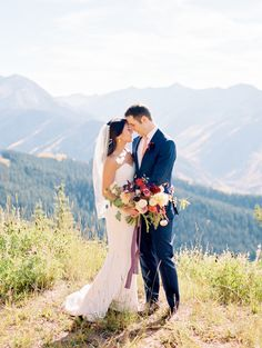 """I sort of love this wedding. And by """"sort of,"""" I mean with every ounce of my being. Because this stunningly beautiful hilltop soiree? It's everything. From the rich-hued florals fromPremato the elegant details planned to perfection byBluebird Productionsto the breathtaking images captured so gorgeously byRachel Havel. Head to THE VAULTfor every amazing moment. It's […]"""