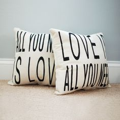 All You Need Throw Pillow Set.