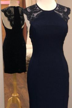 Apr 2020 - Tight Navy Blue Short Homecoming Dress With Lace – Simplepromdress Lace Evening Gowns, Sexy Evening Dress, Formal Evening Dresses, Elegant Dresses, Dresser, Prom Dress Shopping, Navy Blue Shorts, Tight Dresses, Homecoming Dresses
