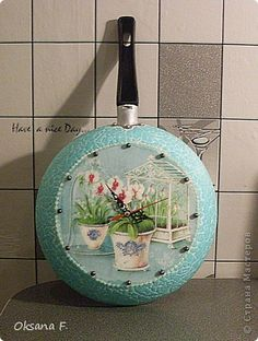 Rustic Crafts, Diy Home Crafts, Crafts For Kids, Decoupage Art, Decoupage Vintage, Magazine Crafts, Jar Centerpieces, Painted Pots, Kitchen Art