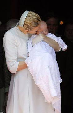 The Baptism Of The Princely Children at The Monaco Cathedral on May 10, 2015