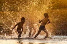 When i was young II 2013 A Playfull Day with Thai Farmers By jeerasak Chaisongmuang Roman 1, Water Art, Simple Pleasures, Image Photography, Life Is Good, World, Children, Day, Farmers