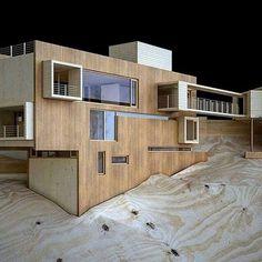 #ArchitecturalModel (#Maqueta) - Casa SaMa Fachada Norte, North facade