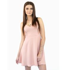 PINK ROSE SKATER DRESS Upgrade this season with this pink-rose skater dress, whether your going to have lunch with the girls or turn heads at a party you can't go wrong with this simple look. Team up with a nice statement bracelet and your favorite pair of heels or a good pointy flat to get a chic appearance.   All Pictures shown are of actual product taken for Style Link Miami.  Pink-rose Sleeveless Skater dress-style Faux-leather Criss-cross back straps Style Link Miami Dresses