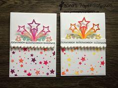 jpp - Sternenfeuer Karte / Aquarell / watercoloring / Stampin' Up! Berlin / Edgelits Sternenfeuer /Starblast / Aquarellstifte / Perpetual Birthday Calendar /  Designer Grußelemente /  www.janinaspaperpotpourri.de