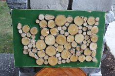 Large Washington State Wood Slice Silhouette