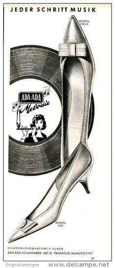 Original-Werbung/Inserat/ Anzeige 1960 - ADA-ADA SCHUHE - ca. 100 x 320 mm
