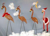 Flamingo Pink Inc.   Bwhaahahahahah    Christmas Mingo Set - SantaMingo and ReinMingo!