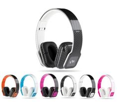 VM Audio Elux On Ear DJ Beats Stereo MP3 iPhone Bass Folding Headphones w/ Case