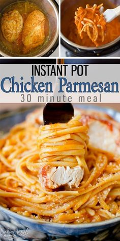 Instant Pot Chicken Parmesan Is A Breaded Chicken Breast Sitting On Top Of Perfectly Cooked Pasta Smothered In Red Pasta Sauce. The Chicken Is Moist, Juicy And Tender. This 30 Minute Dinner Will Be A Weeknight Favorite Cooking With Karli Cooking Recipes, Healthy Recipes, Pasta Recipes, Yummy Recipes, Cooking Tips, Cooking Videos, Recipes With Red Sauce, Slow Cooking, Easy Fast Recipes