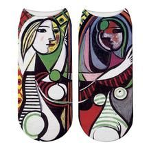 Load image into Gallery viewer, Fashion Printed Picasso Oil Painting Socks Women's Funny Abstract Painting Ankle Socks Picasso The Dream Novelty Socks Picasso The Dream, Unique Socks, Novelty Socks, Ankle Socks, Easy Diy, Hot, Halloween, Abstract, Gallery