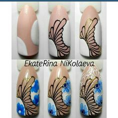 Rose Nail Art, Gel Nail Art, Nail Polish Designs, Nail Art Designs, Nail Art Modele, Nancy Nails, Art Simple, Pedicure Designs, Nagel Gel