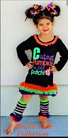 b149ebb3f8b0e Boutique Cutest Pumpkin in The Patch Dress Infant Toddler Abigail Jade