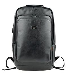 Men's Faux Leather Backpacks Vintage Laptop School Bookbags Unisex Daypacks Rucksacks (Black) Hi Korean Fashion http://www.amazon.co.uk/dp/B00STG3MEI/ref=cm_sw_r_pi_dp_Z-mYub0WW463M