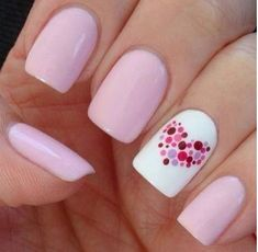 nail polish, nail art, simple, love, pastel, cute, pink, purple, heart, pretty…