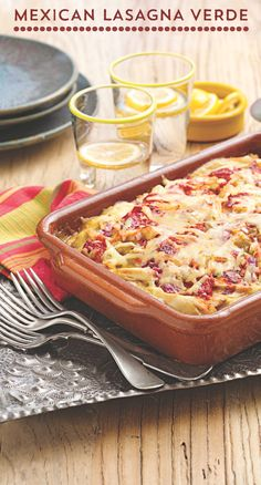 Love lasagna, but don't have time and hate the fuss? This Mexican Lasagna Verde is the perfect solution! We put a tasty twist on this old favorite with Old El Paso™ Green Chiles, Green Enchilada Sauce and Soft Tortillas. It's the melty, delicious comfort food you love with a delicious Mexican twist!
