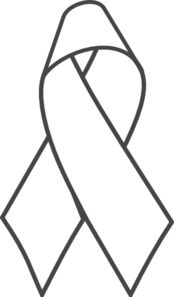Breast Cancer Ribbon B Clip Art / Coloring Page