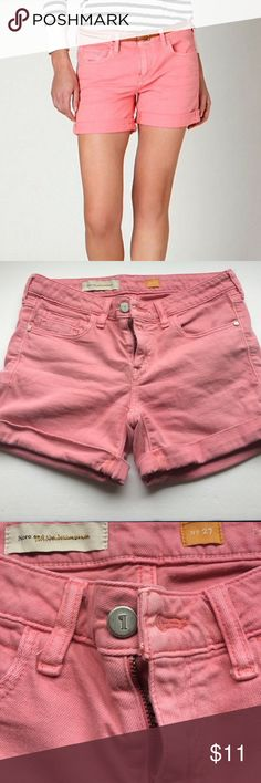Anthropologie ( Pilcro ) Jean Short In good condition, last pic shows black marks. I have not professionally cleaned but priced accordingly. Anthropologie Shorts Jean Shorts