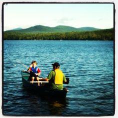 Fishing on Rangeley Lake in Maine
