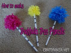 DIY Lorax Pencils (*great party favors or party craft!!)