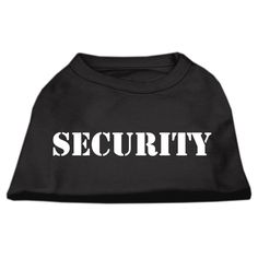 Mirage cat Products 20-Inch Security Screen Print Shirts for cats, 3X-Large, Black with White Text * To view further, visit now : Cat Apparel