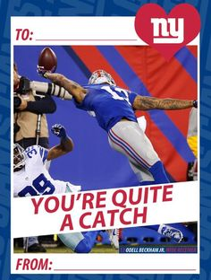 Giants Valentine's Day Cards