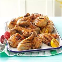 Dad's Lemony Grilled Chicken Recipe from Taste of Home