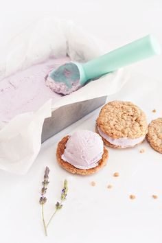 Lavender Toffee Ice Cream Sandwiches via Sprinkles for Breakfast