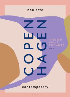"Non Arte Poster ""Copenhagen – Nynne Rosenvinge Corporate Design, Graphic Design Posters, Graphic Design Illustration, Graphic Art, Japanese Poster Design, Plakat Design, Exhibition Poster, Henri Matisse, Brochure Design"