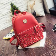 Find More Backpacks Information about 2016 Flowers rivet lady's backpack,High Quality rivet pics,China backpack hiking Suppliers, Cheap backpack travel from GengNan store on Aliexpress.com