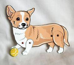Corgi Paper Doll