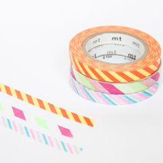 MT slim bright stripe washi tapes