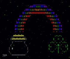 Colourized ASCII Art.
