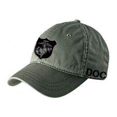 Navy Corpsman Hat Fleet Marine Force DAD Style Cotton Black FMF