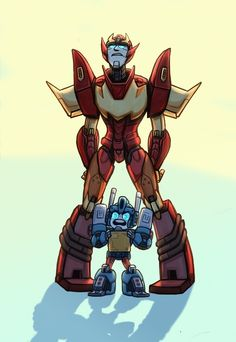 Did I mention how much I love this, because Roddy is like, ¨Oh my gosh, Primus give me strenghth¨ and Ultra Magnus is like, ¨Bring it on Decepticons! I am the boss in this joint! There is only one sherrif in this town and it´s me!