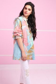 1 Piece MAK Printed Shirt for girls EID wear Latest Kurti Design LATEST KURTI DESIGN : PHOTO / CONTENTS  FROM  IN.PINTEREST.COM #FASHION #EDUCRATSWEB