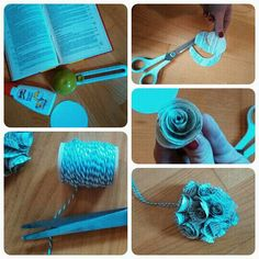 Paperflower from of old book