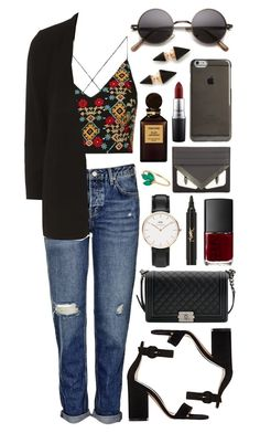 Untitled #480 by clary94 on Polyvore featuring Topshop, Dorothy Perkins, Gianvito Rossi, Chanel, Vita Fede, Daniel Wellington, Agent 18, Fendi, Yves Saint Laurent and MAC Cosmetics
